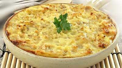 Пюре, запеченное с сыром