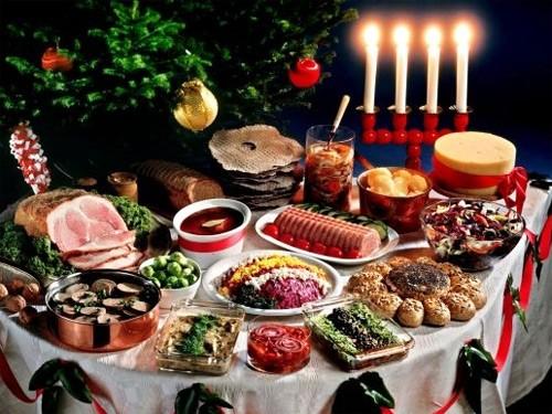 Новые вкусные блюда на столе – к Новому году