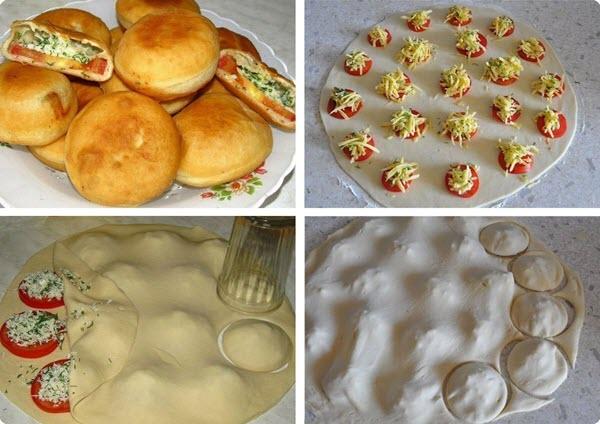 Пирожки быстрого приготовления «Бомбочки»