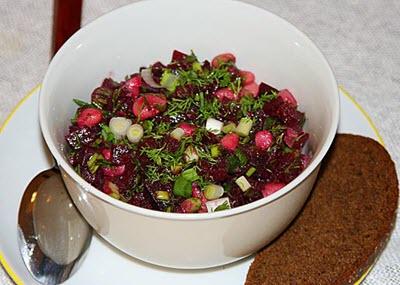 рецепты салатов из свеклы