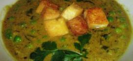 Картофельный суп с грецкими орехами и тофу