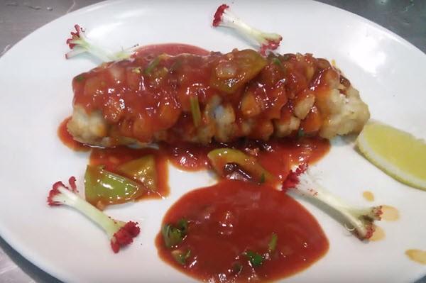Рыбное филе в кисло-сладком соусе