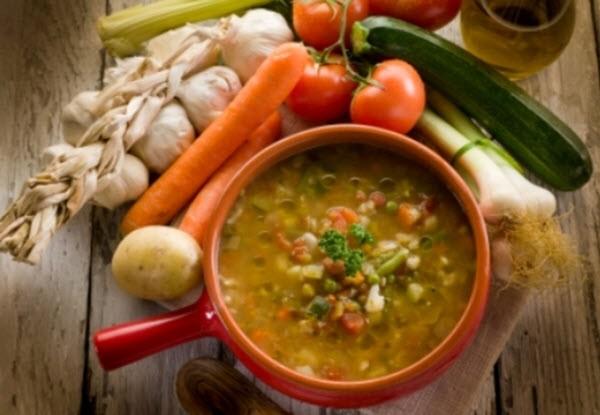 Итальянский овощной суп