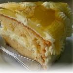 Карибский торт с ананасами в желе