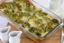 Пирог из брокколи и сыра