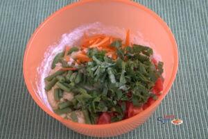 Творожная запеканка с овощами