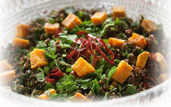 Овощной салат на ужин с поджаркой