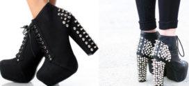 С чем носить ботильоны на каблуке с шипами?