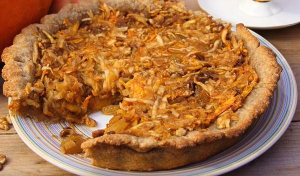 Рецепт приготовления творожного пирога с тыквой и яблоком