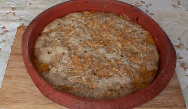 пирог из творожного теста с тыквой и яблоком