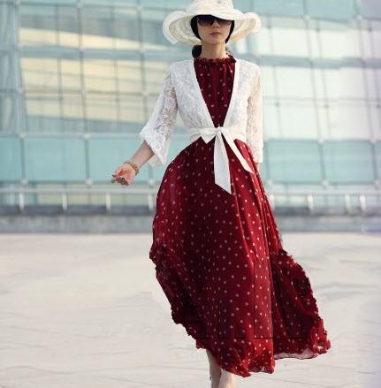 Отзыв о женском платье в горошек, купленного на Алиэкспресс
