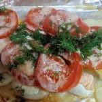 Запеченная рыба горбуша с овощами для