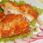 Рыба под сыром с начинкой