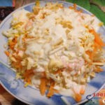 слоёный фитнес салат