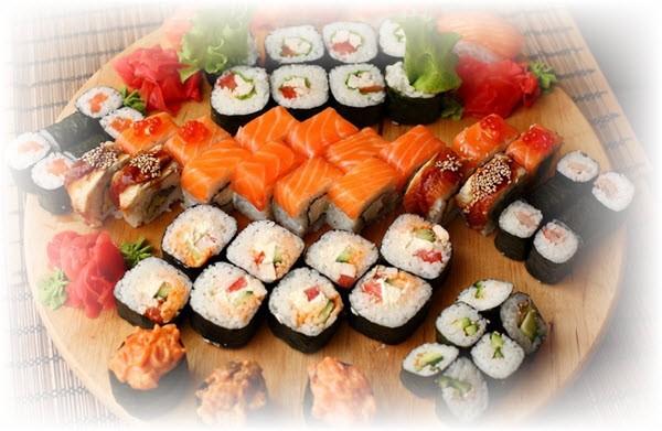 Экзотическое наполнение суши и роллов
